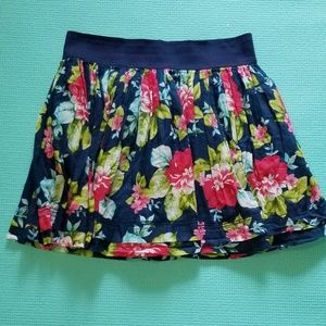 Floral Abercrombie & Fitch Flowy Mini Skirt